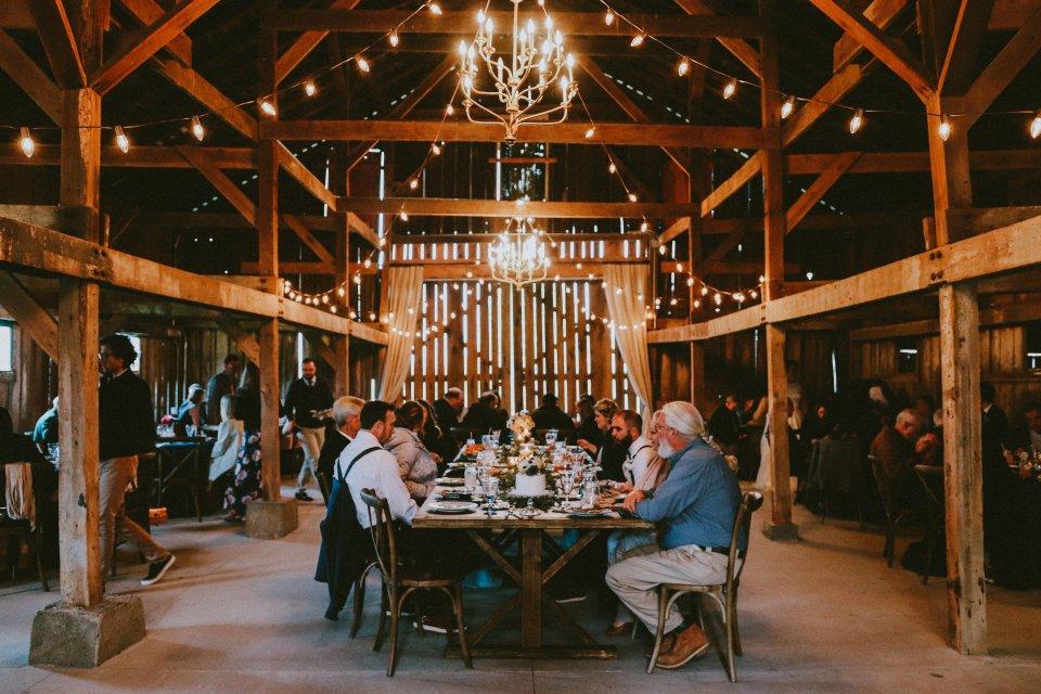 Barn reception at Vintage Spring Wedding - Warrenwood Manor -Kentucky Wedding Venue