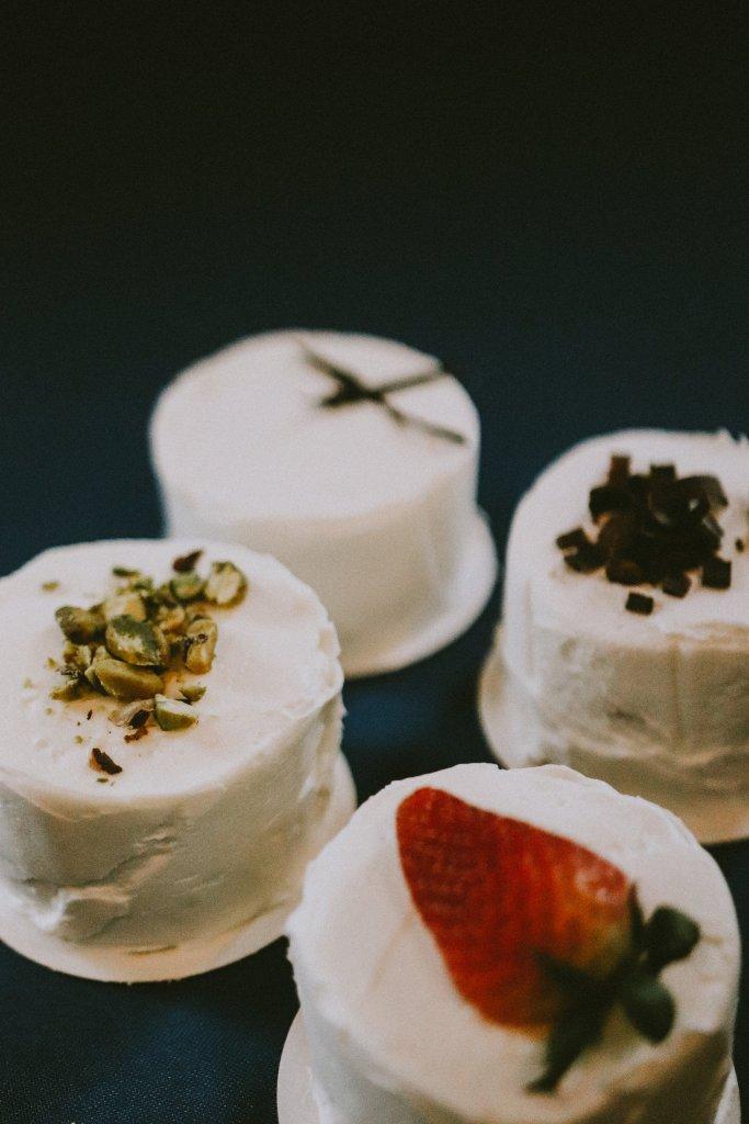 Petite tasting cakes at Vintage Spring Wedding - Warrenwood Manor -Kentucky Wedding Venue