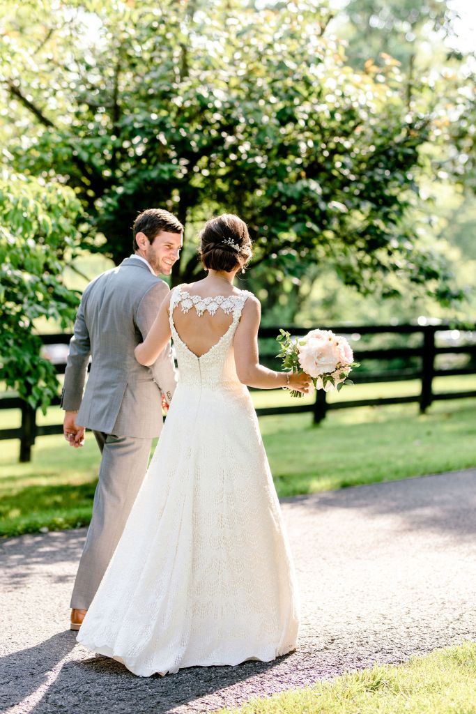 Pastel Spring Southern Chic Wedding at Warrenwood Manor - Kentucky Wedding Venue- Bride & Groom