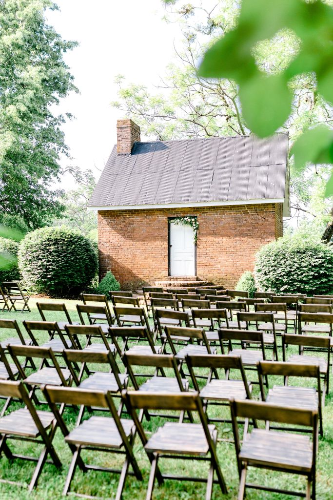 Pastel Spring Southern Chic Wedding at Warrenwood Manor - Kentucky Wedding Venue- Outdoor ceremony