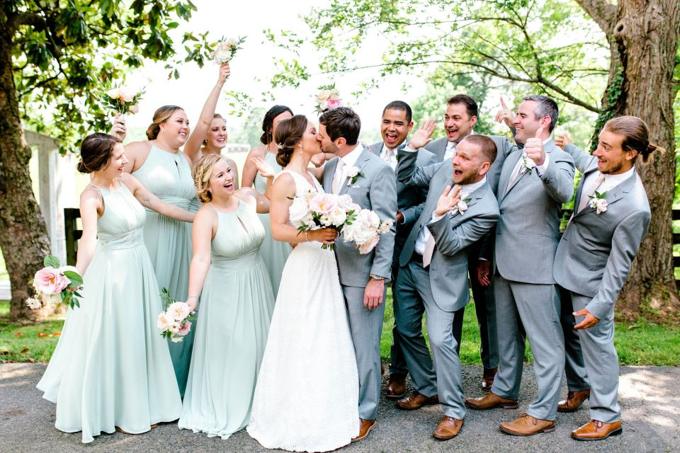 Pastel Spring Southern Chic Wedding at Warrenwood Manor - Kentucky Wedding Venue- Wedding Party Celebrating
