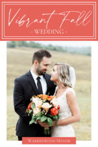 Vibrant Fall Wedding at Warrenwood Manor - Central Kentucky Wedding Venue