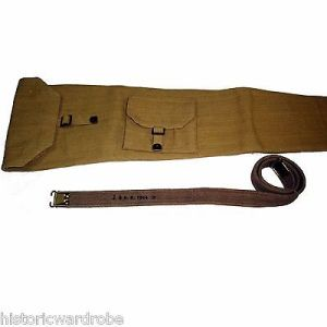 SMLE British Army WW2 P-1937 Enfield Rifle Web Carry Case with Sling - Repro