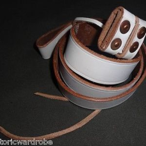 WWII British Lee Enfield Leather Sling WHITE - Reproduction