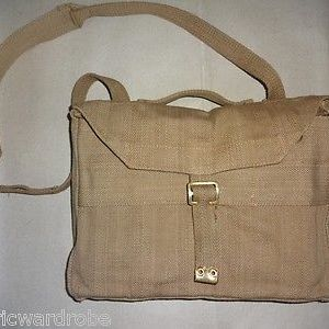 British WWII P-37 Officer Valise Bag with Carry Strap - Reproduction