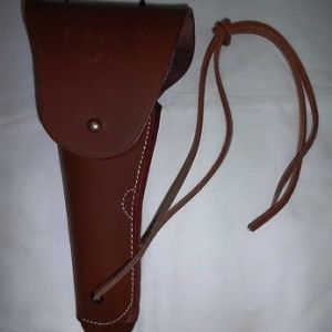 WWII US Army Colt .45 M1911 Holster Mid Brown - Reproduction (LEFT HANDED)