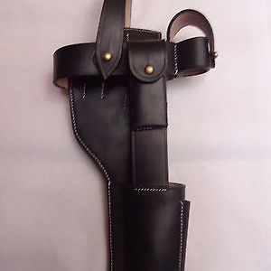 German C96 Broomhandle Mauser Holster Black - Reproduction