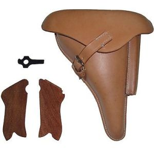 WW2 P08 Holster Natural color w/Take Down Tool and Hand Grips (Reproduction)