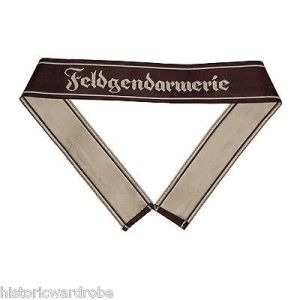 WW2 German Army FELDGENDARMERIE BEVO Cuff Title - Reproduction
