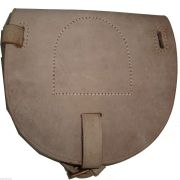WWI Leather Horseshoe Case Natural Color Reproduction