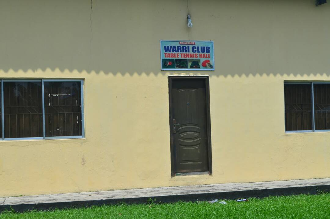 Table Tennis Hall at the Warri Club