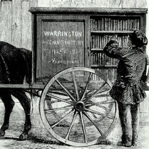 Warrington's Perambulating Library - operated by the town's Mechanics Institute and one of the first mobile library's in the country.