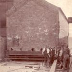 Orford Tannery's stable block on the move 1906
