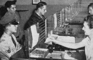 American Servicemen cashing cheques in Warrington