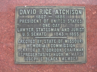 Plaque on the grave of Atkinson