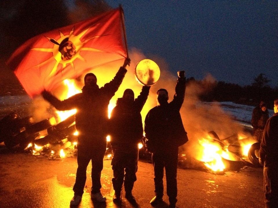 New Brunswick Dec 2 fire flag drum