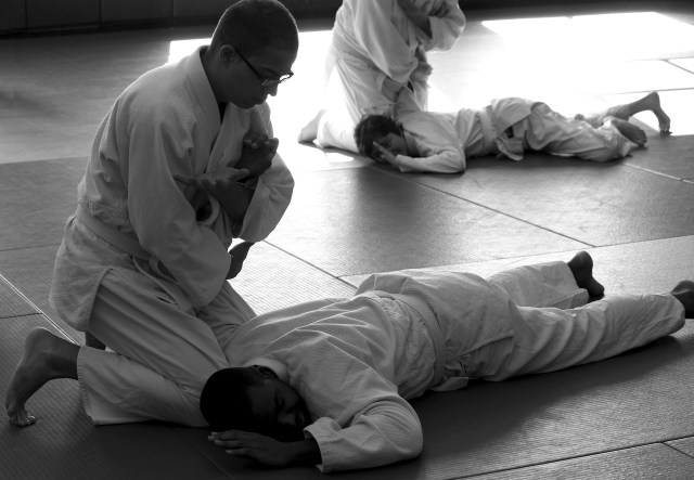 Arm lock in Akido class