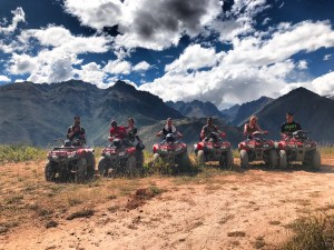 Warrior Retreats 2 tribe ATV'ing in the Andes mountains