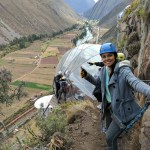 Antonia Aviles at the top of Sky Lodge in the Sacred Valley of the Incas.
