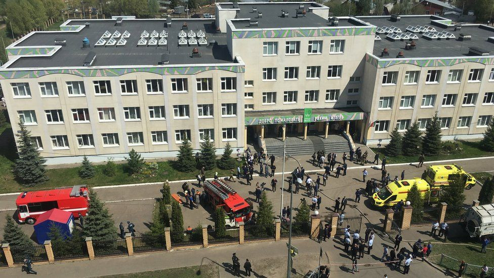 7 students and teacher killed in Russian school shooting