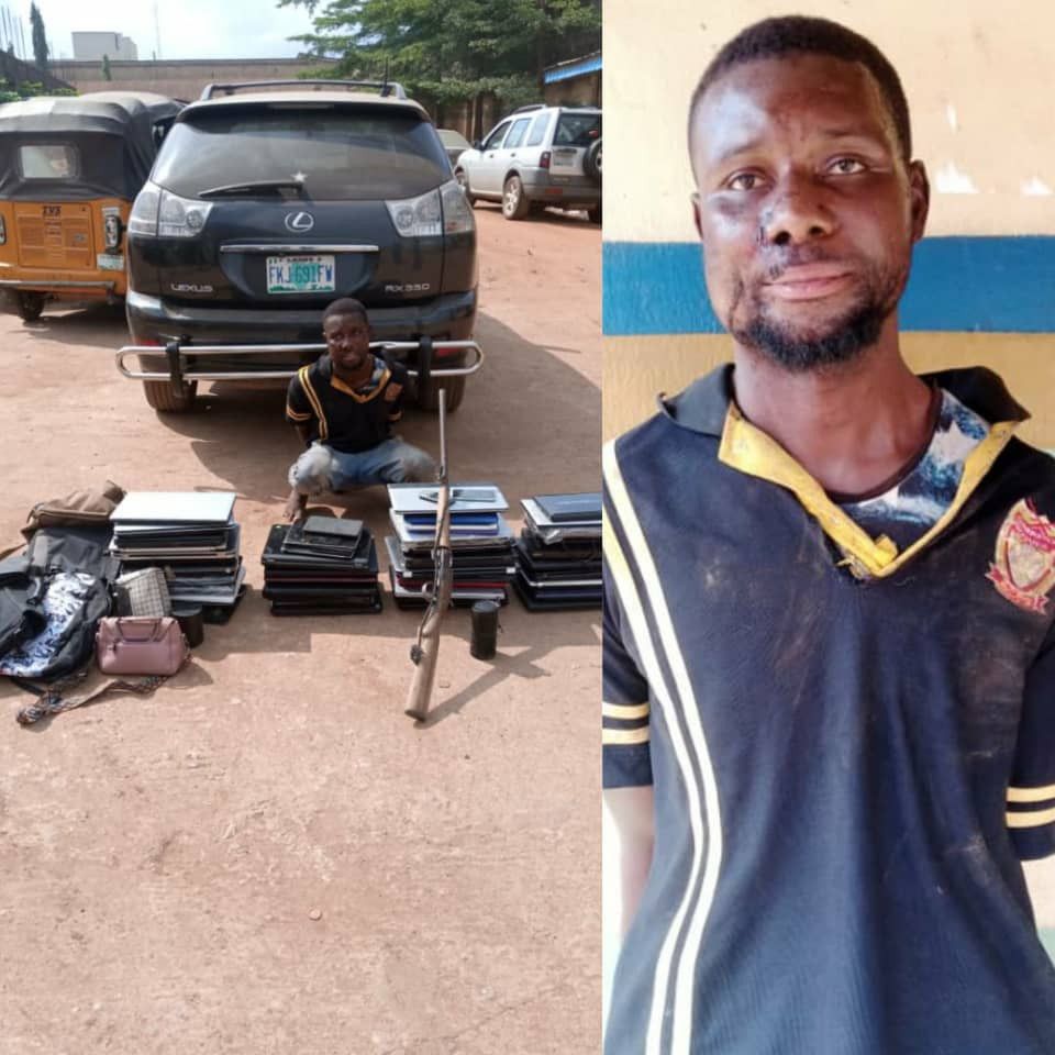 One suspect arrested as police officers engage armed robbers in a gun battle in Ogun (photos)