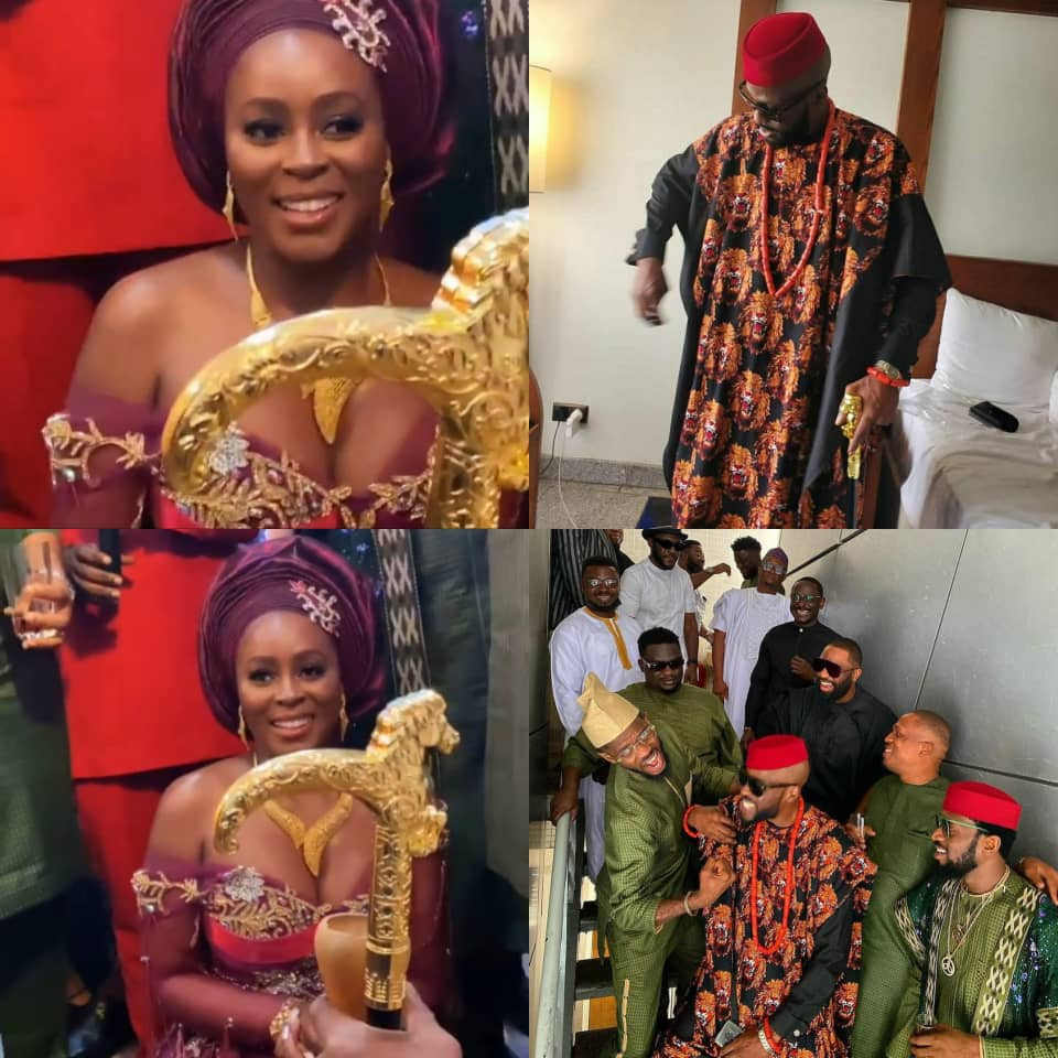 First photos and videos from rapper, Ikechukwu's traditional wedding