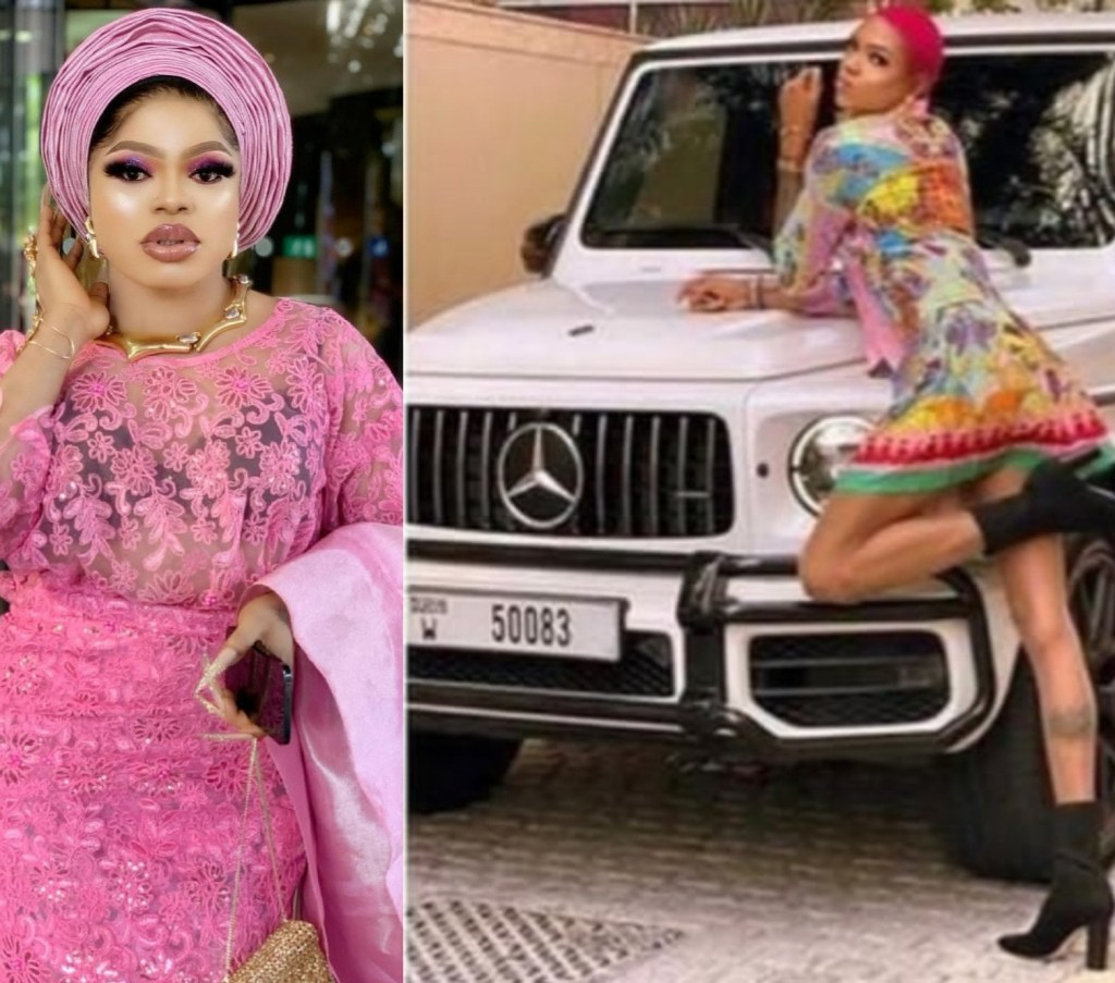Bobrisky releases 'receipts as he accuses rival crossdresser, Goldtiful, of renting a G-wagon and claiming to followers that it's his