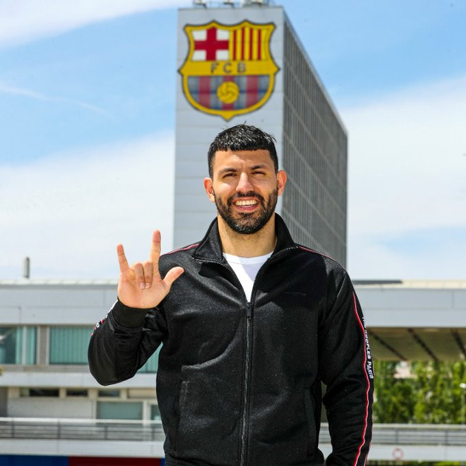 Manchester City striker, Sergio Aguero joins Barcelona on a two-year contract