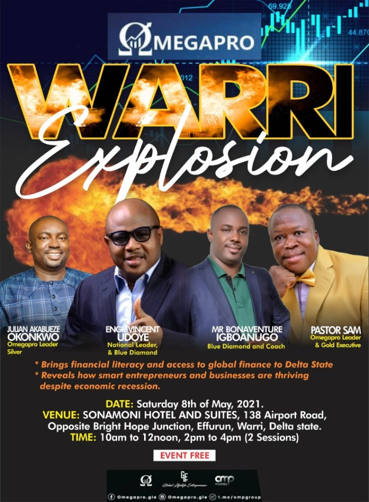 Sponsored Post: Would you love to make some cool cash? If yes, then MEGAPRO WARRI EXPLOSION is the place to be (Details)