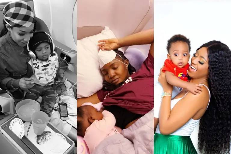 Check out photos of Simi, Regina Daniels and other stars with their babies as we celebrate Mother's Day