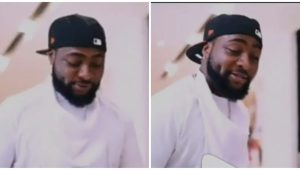 """""""He enter, skit be like movie"""" – Excitement as Davido features in a yet to be released comedy skit"""