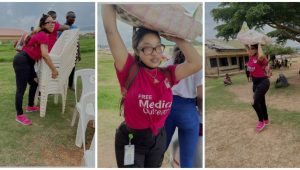 """""""There is a blessing that comes with humbling yourself to do Gods work"""" – Tonto Dikeh says as she leads by example (Photo)"""