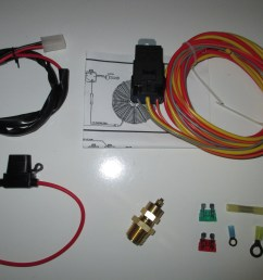 electric fan wiring harness kit with temp sensor 185 on 165 off [ 4608 x 3456 Pixel ]