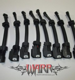 multec mini delphi wire harness to ls2 ls3 ls7 ev6 injector adapters [ 2048 x 1536 Pixel ]