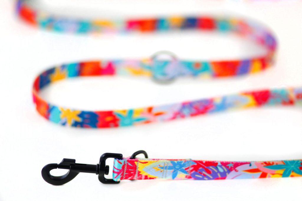 Smycz kolorowa przepinana dla psa - handmade