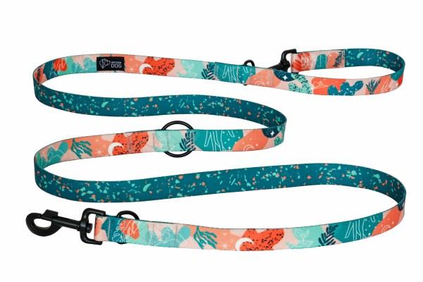 smycz długa regulowana wzór kolorowy nadruk nowoczesny dizajn warsaw dog
