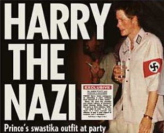 Prince Harry in nazi uniform