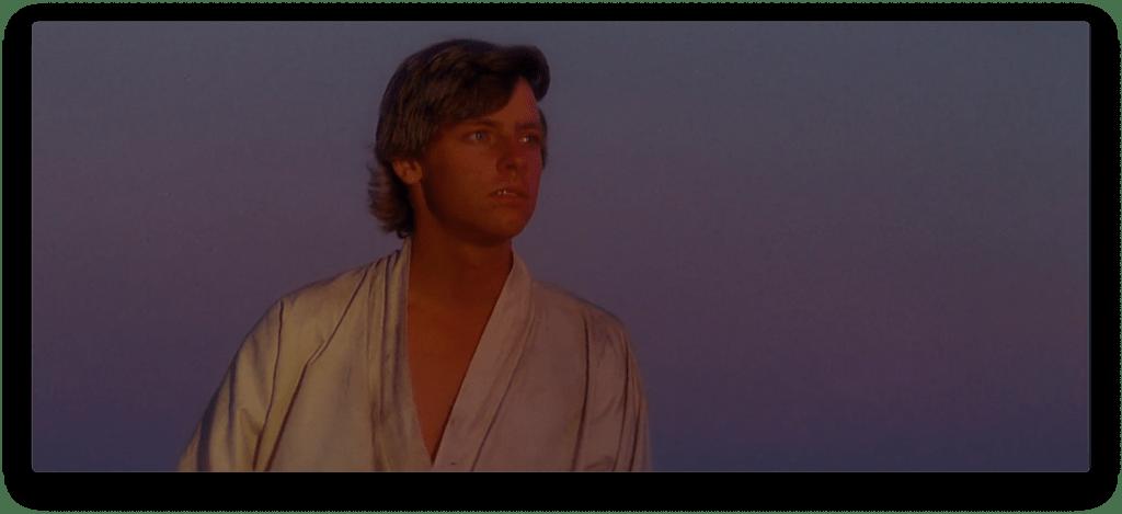 Luke Skywalker at sunset.