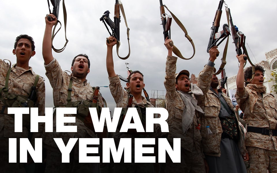 The War in Yemen special page article banner