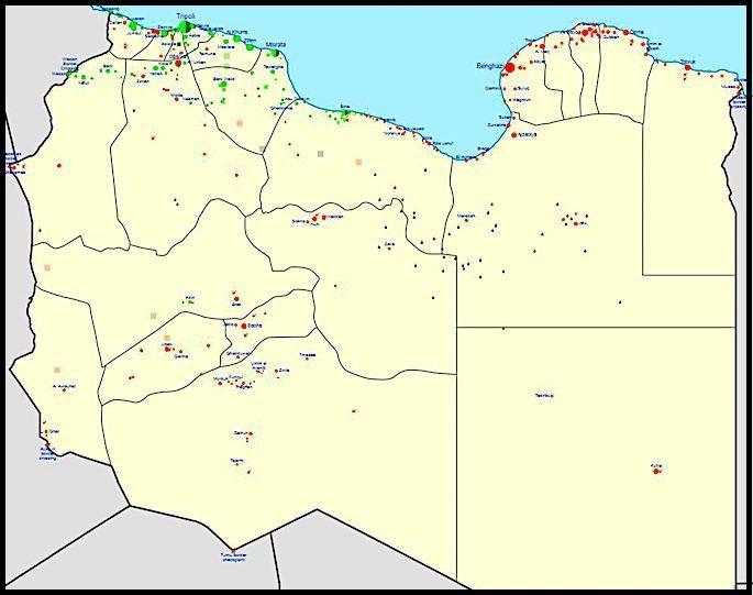 MAP UPDATE: LÍBYJSKÁ NÁRODNÁ ARMÁDA POSTUPUJE NA TRIPOLIS