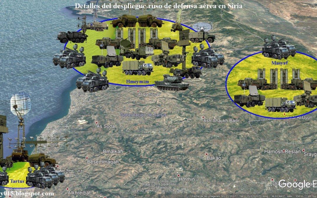 Rusko deaktivovalo S-400 v meste Masyaf. S-400 chránil Sýrsky S-300.