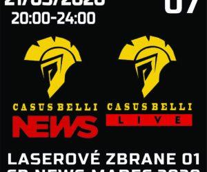 Casus Belli NEWS 07-Bojové novinky + Laserove zbrane 1