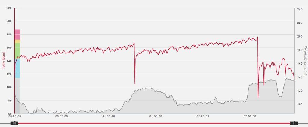 """Dryf tętna pokazuje, że do optymalnej formy daleko. Ścigając się w maratonie albo w połówce na pewno """"umarłbym"""" po przebiegnięciu 2/3 dystansu."""