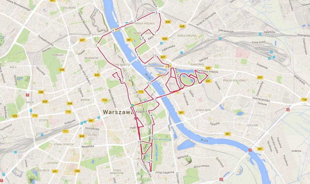 """I na sam koniec mój """"maraton"""" po Warszawie."""