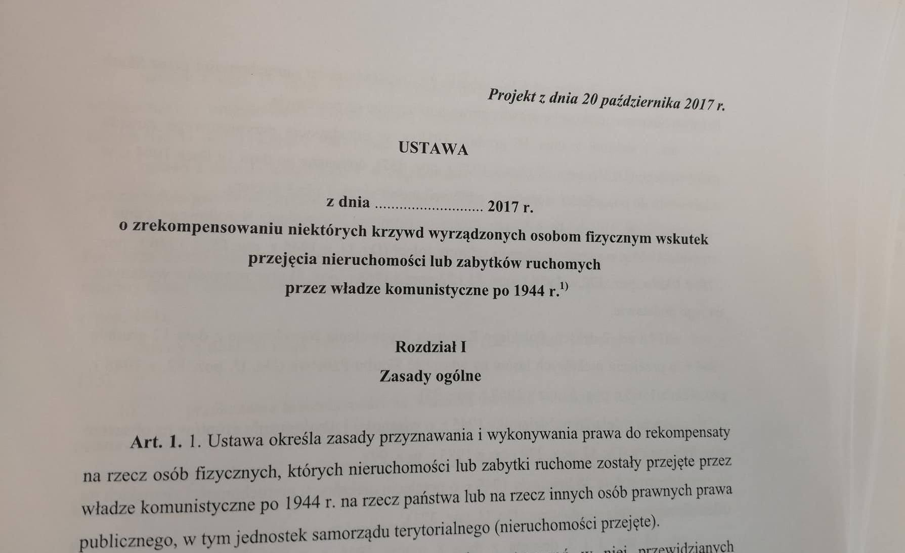 Projekt Dużej Ustawy Reprywatyzacyjnej już na stronie Ministerstwa Sprawiedliwości!