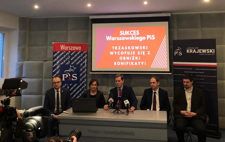 PO wycofuje się z obniżki bonifikaty! Sukces warszawskiego PiS!