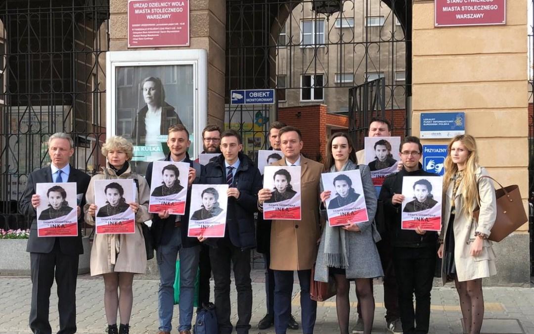 """Radni Koalicji Obywatelskiej na Woli nie chcą ulicy """"Inki""""!"""