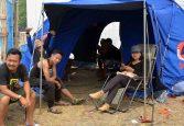 salah satu tenda di acara festival karimata 2015 di desa betok menyambut sail karimata 2016