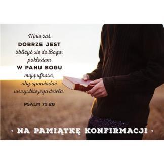 Kartka konfirnacyjna - Psalm 73.28