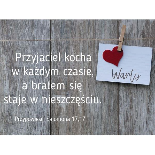 Magnes WARTO z wersetem biblijnym - serce
